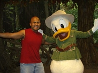 Donald and I at Animal Kingdom